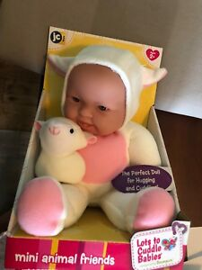 JC Toys Berenguer 10/' Mini Animal Friends Huggable Lots to Cuddle Lamb Ages 2+