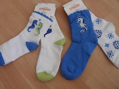 NWT GIRLS GYMBOREE SZ 12-24 MONTHS, 2T-3T, 5-7 YEARS GREEK ISLE STYLE SOCKS