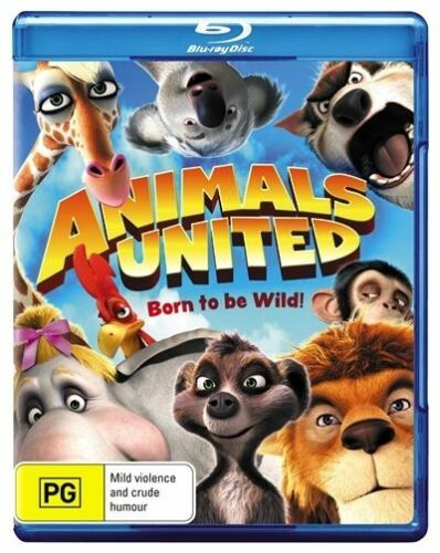 1 of 1 - Animals United: Born To Be Wild Region B Blu-Ray Like New FRee Postage