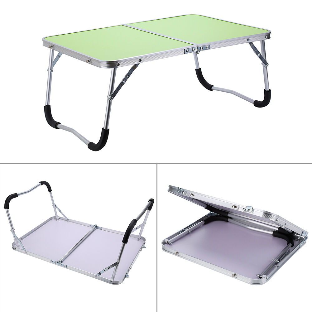 Portable folding picnic camping table tv dinner desk stand for Pc bed table