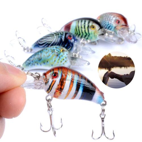 1PCS Fishing Lures Kinds Of Minnow Fish Bass Tackle Hooks Baits Crankbaits