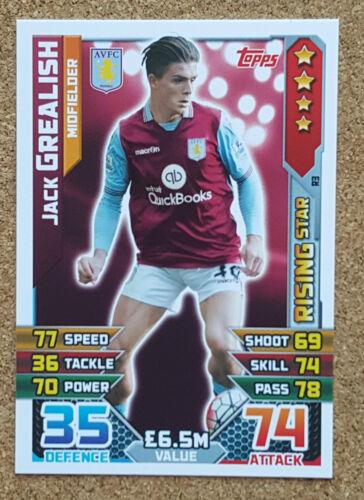 fútbol single tarjetas Aston Villa varios jugadores Match Attax 2015 2016 fútbol