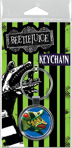 Beetlejuice Snake Keychain
