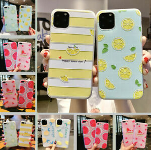 For-iPhone-11-Pro-Max-XS-X-8-6-7-Plus-Cute-Fruits-Pattern-Relief-Soft-Case-Cover