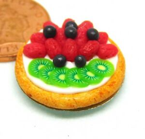 1-12-Scale-Mixed-Fruit-Flan-2-2cm-Tumdee-Dolls-House-Kitchen-Food-Accessory-D49