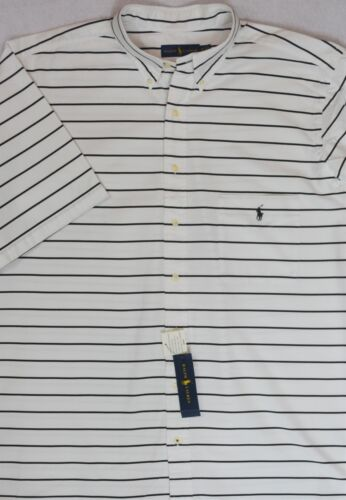 Ralph Lauren Shirt Chest Pocket White with Black Striping XLT XL Tall NWT $125