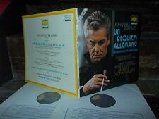 BRAHMS: Ein deutsches Requiem   Janowitz Waechter Karajan / DG France stereo