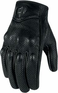 NEW-ICON-PURSUIT-GLOVES-STREET-BIKE-MOTORCYCLE-MEN-039-S-LARGE-BLACK