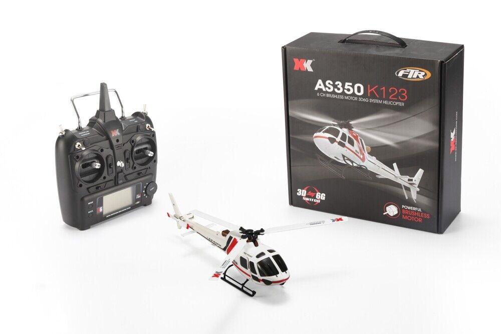 XK k123 as350 6 canal 3d6g 3-Hoja de helicóptero flybarless RTF-nuevo