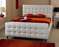 Beds For Sale Best Price Faux Leather White Single Beds Double Beds Made In Uk