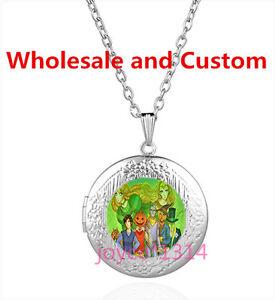 Wizard of Oz Cabochon Tibetan silver Glass Locket Pendant Necklace HZ-6247