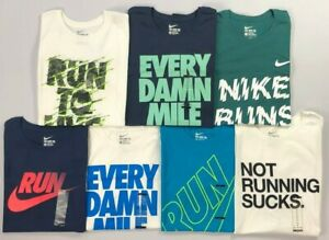 Men-039-s-Nike-Athletic-Cut-Run-Tee-Shirt