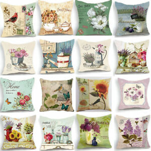 18-039-039-New-Retro-Design-Cushion-Cover-Pillow-Case-Red-Bird-Rose-Flower-Home-Decor