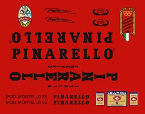 PINARELLO MONTELLO FRAME DECAL SET BLACK