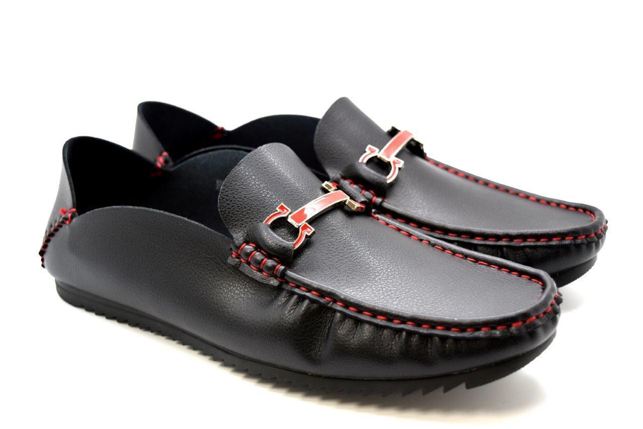 New Mens Dress Suit Formal Italian Boat Faux Leather Open Slip-on Boat Italian Shoes 422014