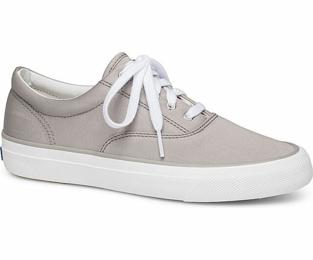 Anchor Sateen Sneakers Gray,Size 7.5