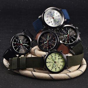 Herren Militär Edelstahl Datum Quartz Sportuhr Armbanduhren-Täglich_wasserdich