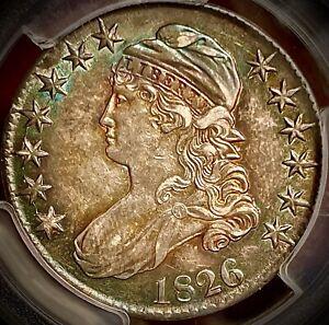1826 capped bust half dollar pcgs au50 overton 104a