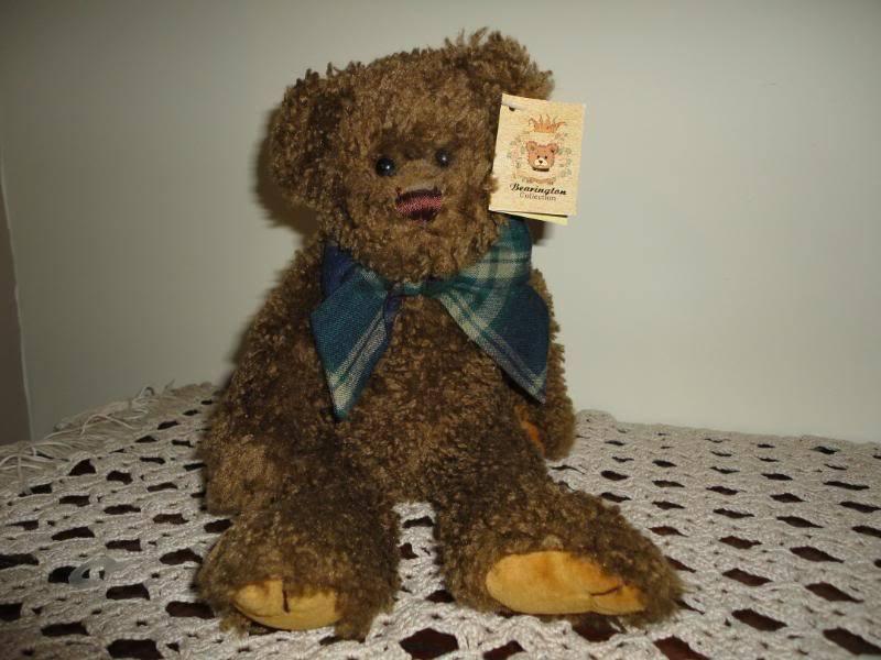 Bearington Raggles marrone Teddy Bear Jointed 1252 14 inch All Tags