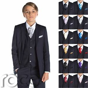 e0c8b8660a2 Image is loading Boys-Navy-Suit-Page-Boy-Suits-Boys-Wedding-