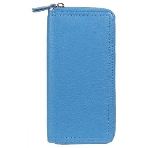 Hadaki Womens Zippered Leather Clutch Billfold Wallet HDK-705