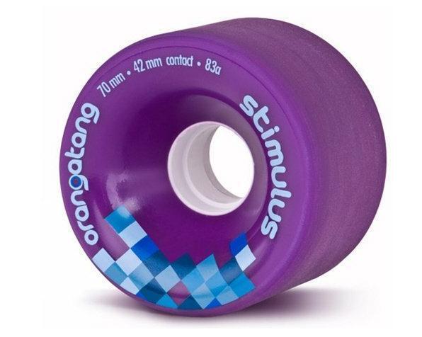 Loaded Longboards Orangatang Wheels -  Stimulus 70mm - Purple (Set of 4)  retail stores