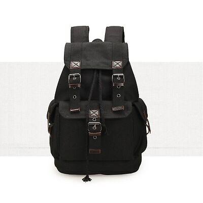 Mens Lady Vintage Canvas Backpack Satchel Rucksack School Bag Travel Camping Bag