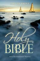 Niv Holy Bible Larger Print International Version Paperback No Tax on sale
