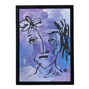 PAINTING-ORIGINAL-ACRYLIC-ON-CANVAS-PANEL-FRAME-INCLUDED-CUBAN-ART-by-LISA