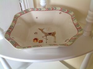 Spode-Christmas-Jubilee-9-034-Deep-Square-Bowl-New-and-Boxed