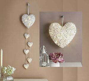 Led light up white hearts battery wall light feature large or 6 image is loading led light up white hearts battery wall light aloadofball Gallery