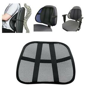 cool vent cushion mesh back lumbar support new car office chair