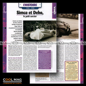 hvf-54-02-SIMCA-ROGER-DEHO-1946-50-Photo-MOLINARI-BOL-D-039-OR-1949-Car-Fiche-Auto