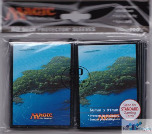 LANDS MANA BLUE ISLAND ULTRA PRO MTG deck protectors card sleeves FOR MTG