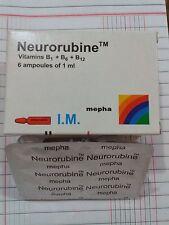 4 Packs - 24 Ampuls Neurobion B Complex B1 B6 B12 Vitamins Neurorubine Suplement