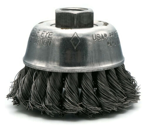 United Abrasives SAIT Carbon Steel Wire Knot Cup Brush for Angle Grinders