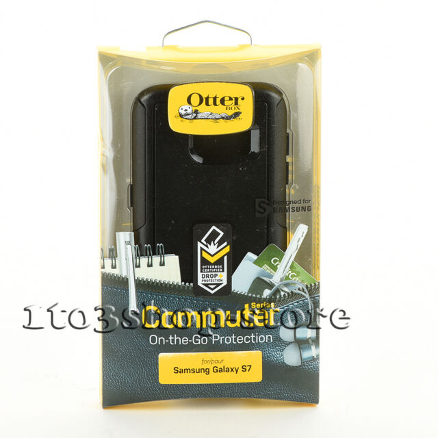 OtterBox Commuter Samsung Galaxy S7 Dual Layers Hard Case Snap Cover Black