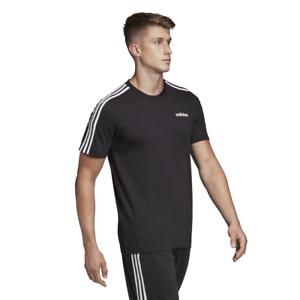 adidas 3 Stripe Black T Shirt