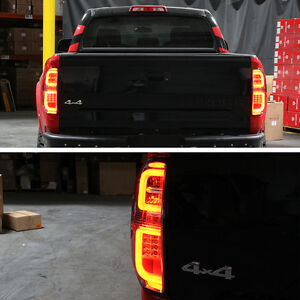 2014 2017 toyota tundra led plasma tube smoked tail lights lamps pair 14 17 ebay. Black Bedroom Furniture Sets. Home Design Ideas