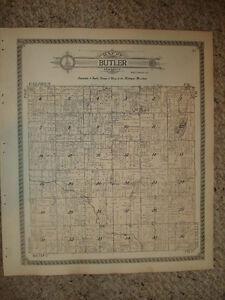 Butler Township Branch County Michigan Antique Map Nr Ebay