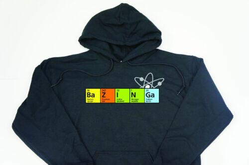 Big Bang Theory Sweat à capuche//Hoody Bazinga Sheldon Cooper élément Espace geek drôle