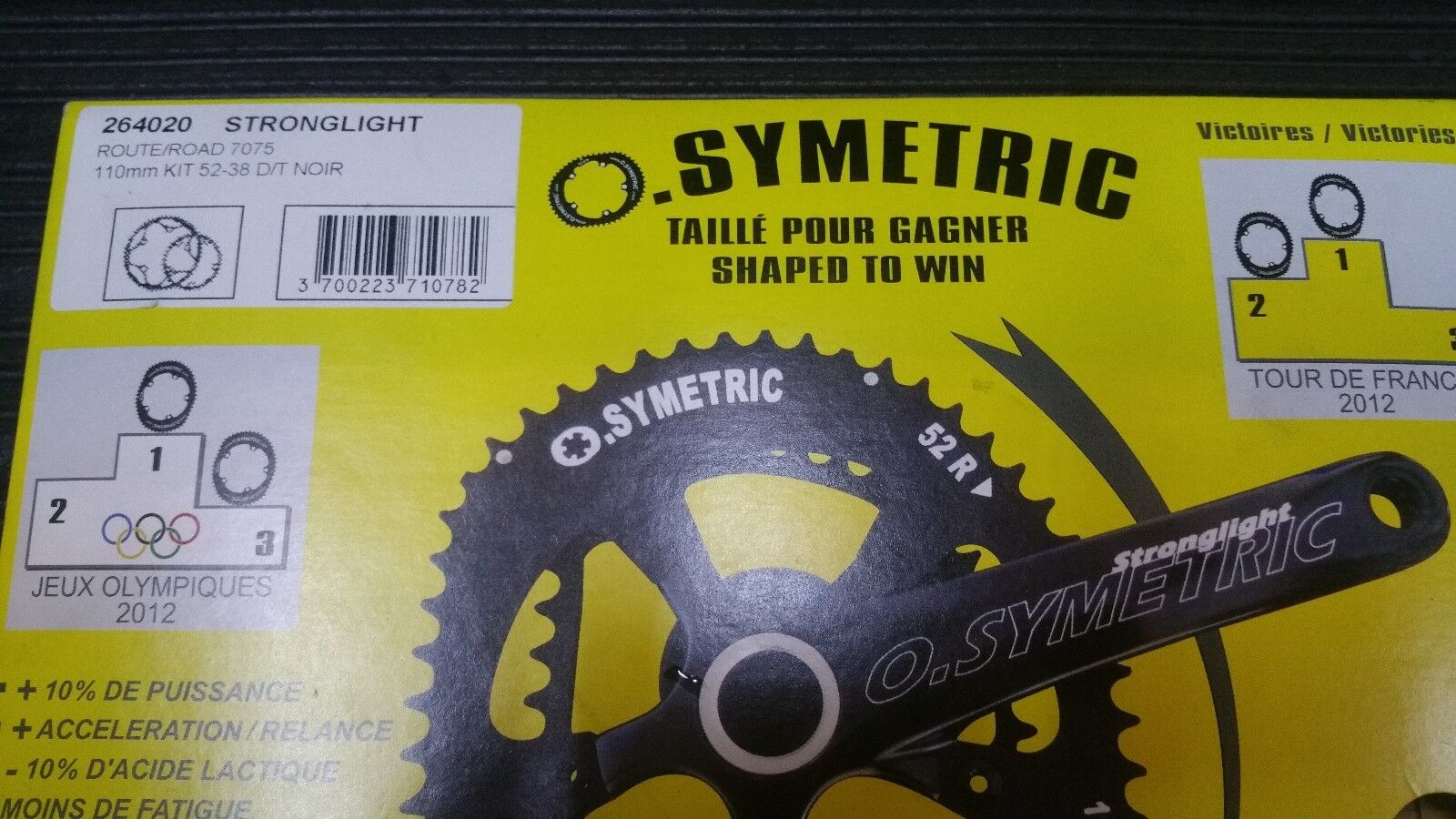 Stronglight O.Symetric 38 52  ChainRing 110mm BCD Chris Froome  new sadie