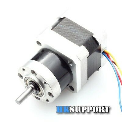 11Kg.cm NEMA 17 Stepper Motor 5mm Shaft 5.18:1 Planetary Gearbox for 3D Printer