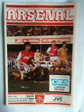 MINT 1982/83 Arsenal v Manchester United  League Cup S/F 1st Leg