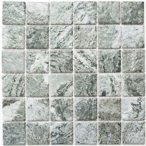 Détails sur Mosaïque céramique structure pierre look gris bain mur  16-HWA4GY_f   10 plaques