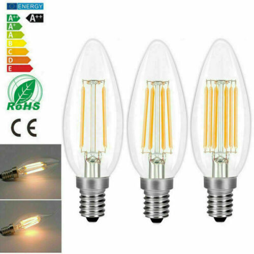 E14 6W 4W 2W Dimmable LED Candle Filament Light Bulbs  Replace Halogen TRYA