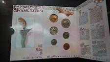 1sen--to---rm1--1990--2nd siri coins--bu--coin card