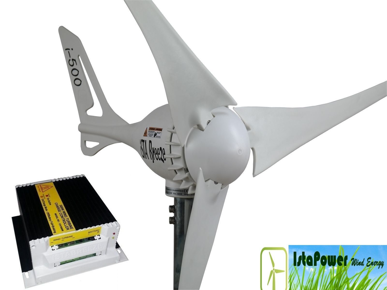 Kit Wind Generator + charge controller 24V/500W Weiß,wind turbine iSTA Breeze®