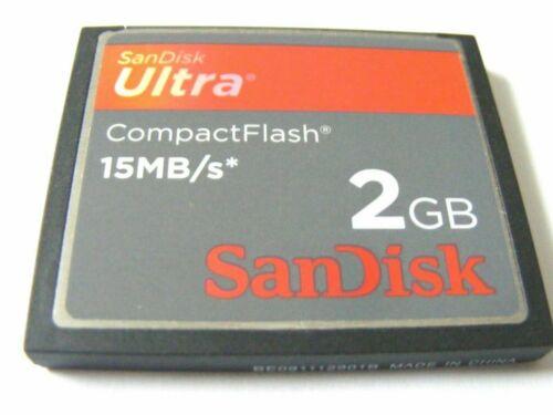 2gb Compact Flash Card ultra 2 gb CF ultra , SanDisk usado,,