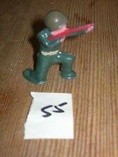 ca 1960'S BARCLAY DIMESTORE LEAD TOY SOLDIER W/ RIFLE KNEELING #55